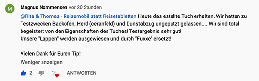 Magnus Nommensen Youtube Reisemobil statt Reisetabletten